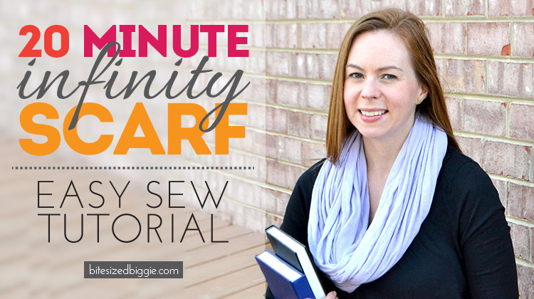 20 minute infinity scarf - such an easy sew project!