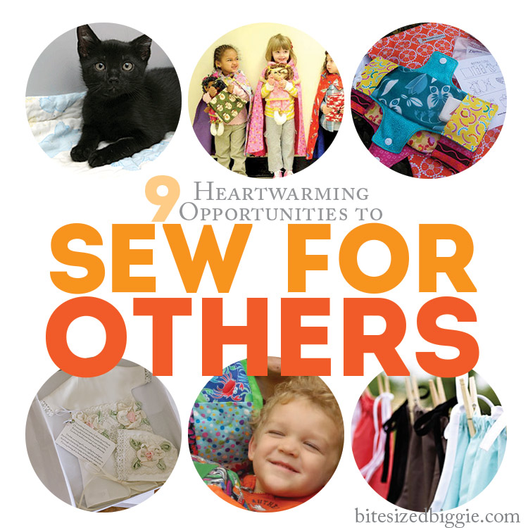 9 Charity Sewing Project Ideas and Projects - Bite Sized Biggie