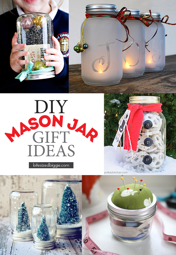 DIY Mason Jar Gift Ideas - all easily DIY-able!