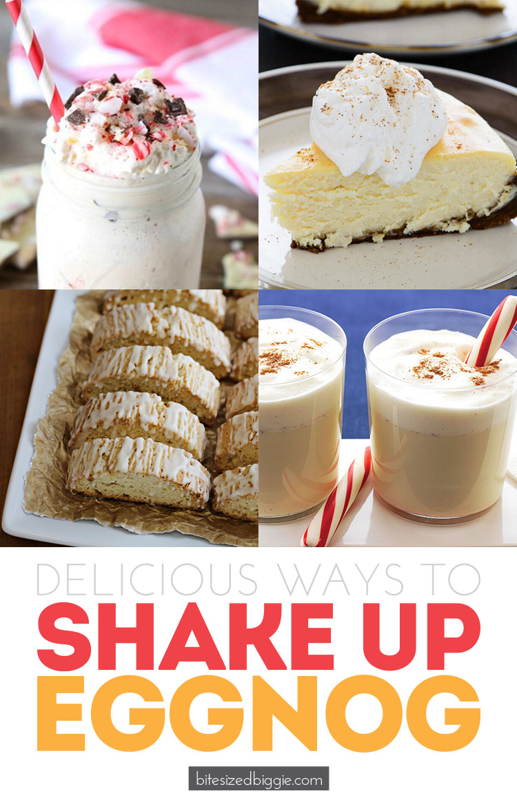 Delicious ways to spice up the eggnog tradition - love these fun recipes!