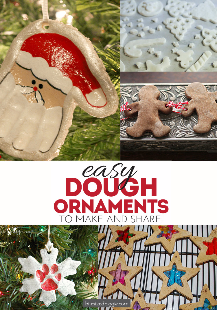 Easy dough ornaments to make and give! Salt, sinnamon and constrarch dough ornaments ideas - something for everyone!
