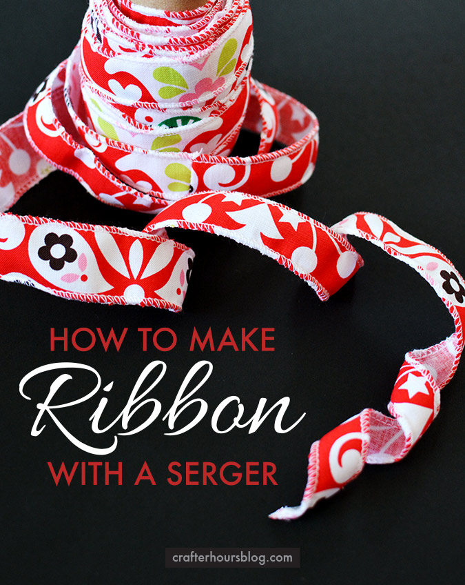How-to-make-ribbon-with-a-serger-So-simple-make-11-yards-of-ribbon-with-just-