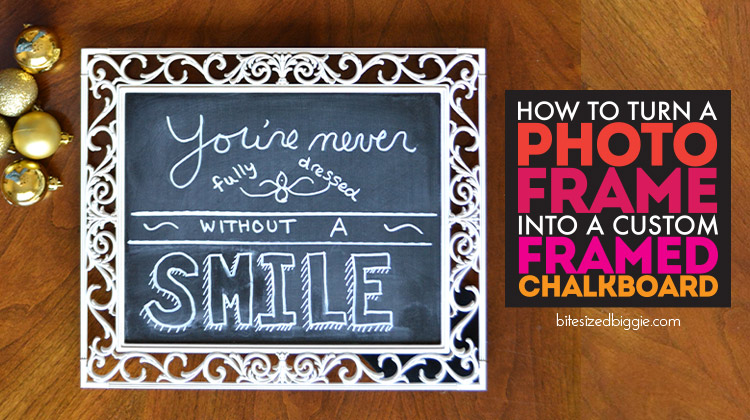 How to turn a photo frame into a framed chalkboard - simple DIY!