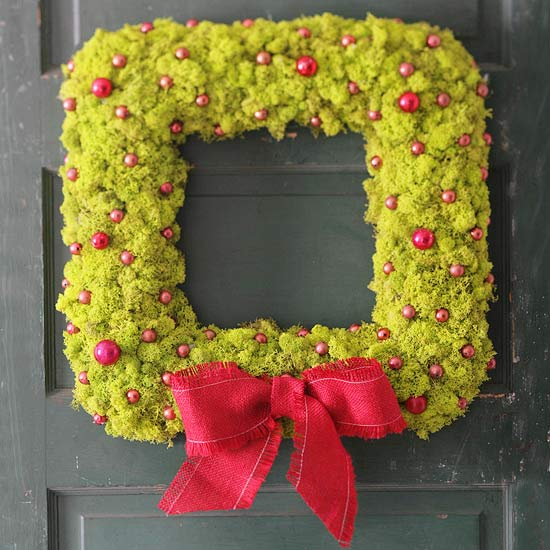 Moss covered wreath