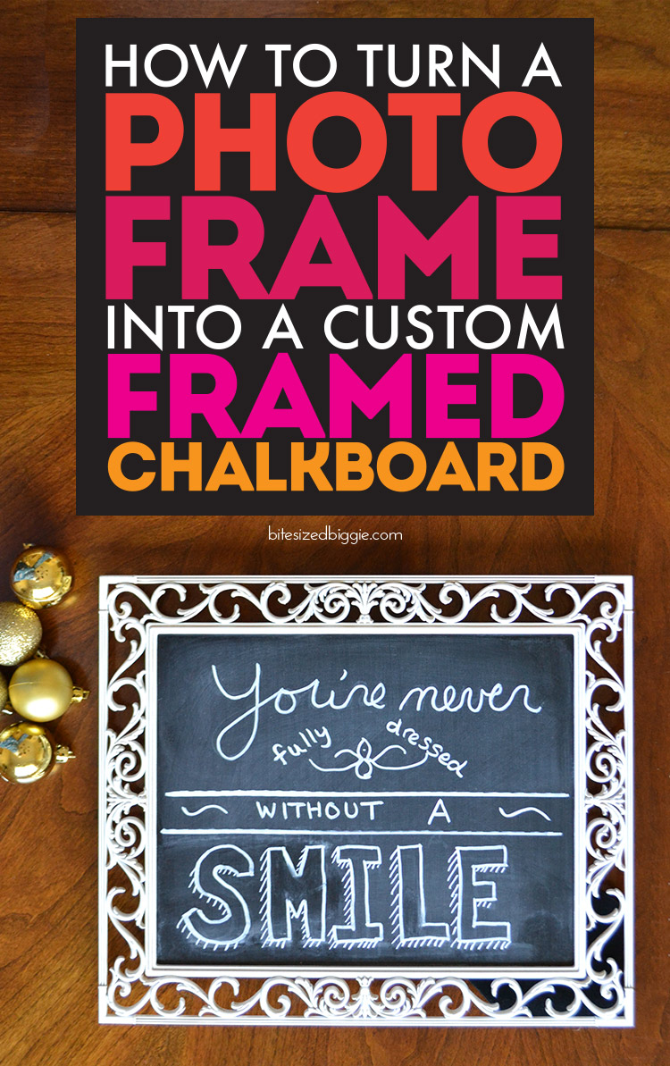 Tutorial - How to turn a picture frame into a framed chalkboard - so simple to make!