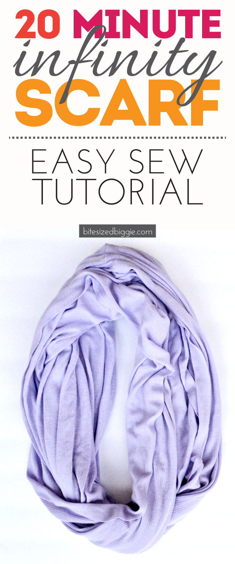 What a great tutorial - a scarf in 20 minutes - totally easy to sew - ONE SEAM!