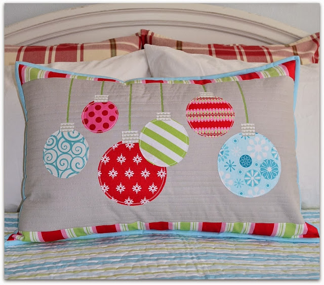 scrap ornament pillow