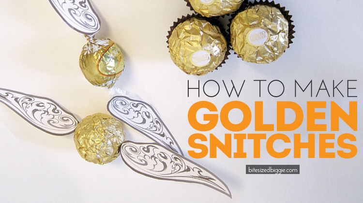 How to make Golden Snitches - perfect for a Harry Potter Party!