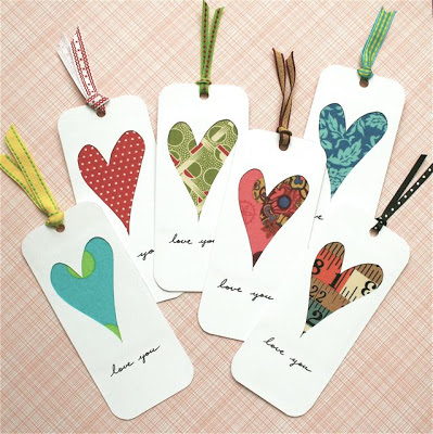 Valentine's Day Scrap Bookmarks