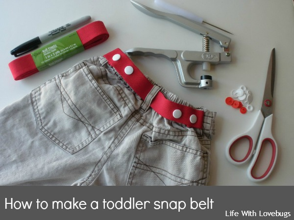 toddler belt with snaps