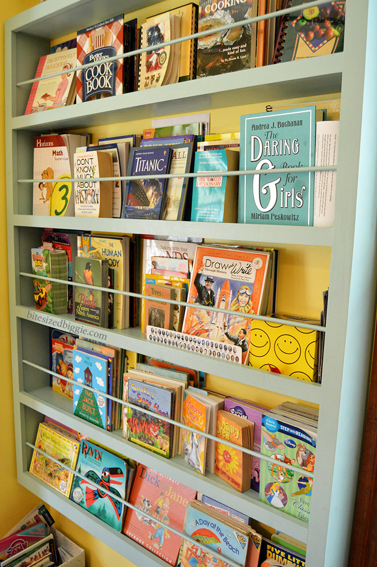 Custom built in bookcase for bedroom or playroom or homeschool space