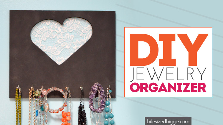 DIY Jewelry Organizer - Bite Sized Biggie Tutorial