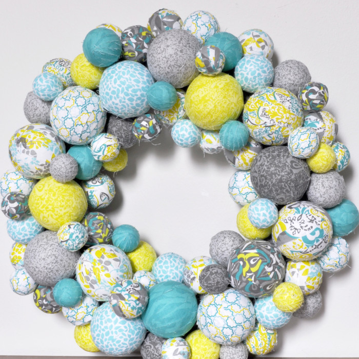 Fabric-Ball-Spring-Wreath