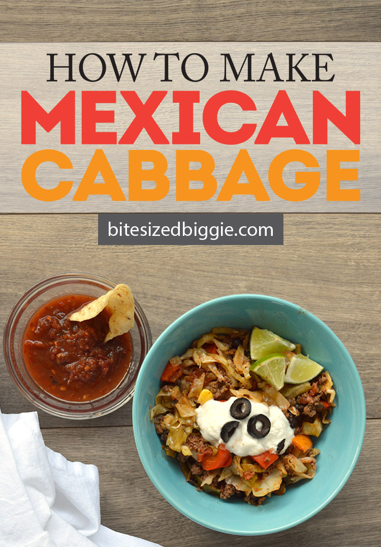 How to make Mexican Cabbage recipe on Bite Sized Biggie