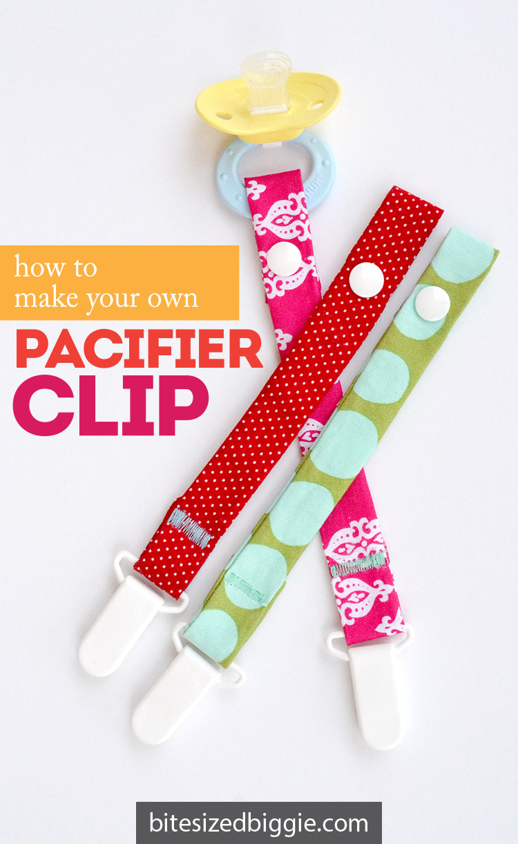 How to make your own pacifier clip - a step-by-step simple tutorial!