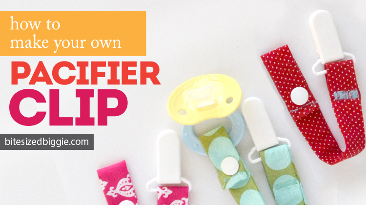 How to make your own pacifier clip