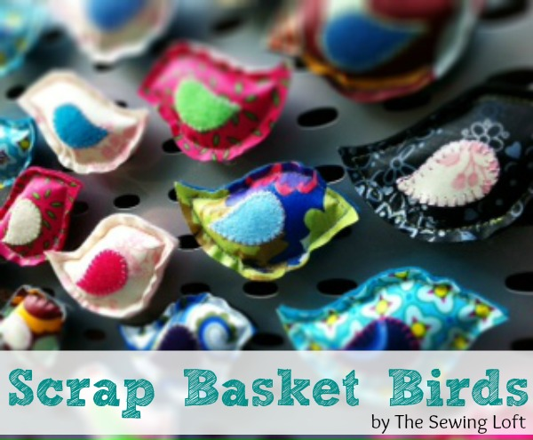 Spring Scrap Basket Bird Magnets