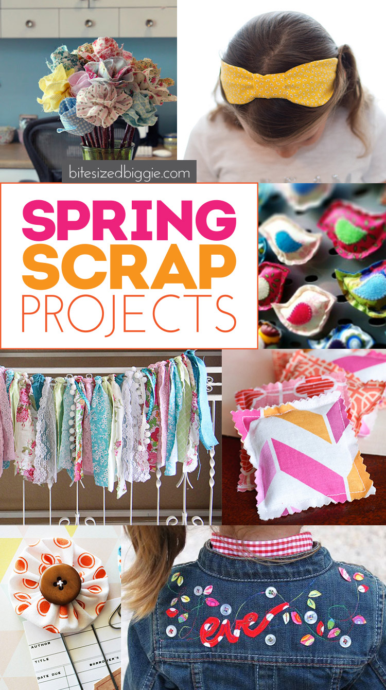 Spring Scrap Busting project ideas - use up that scrap stash and brighten things up!