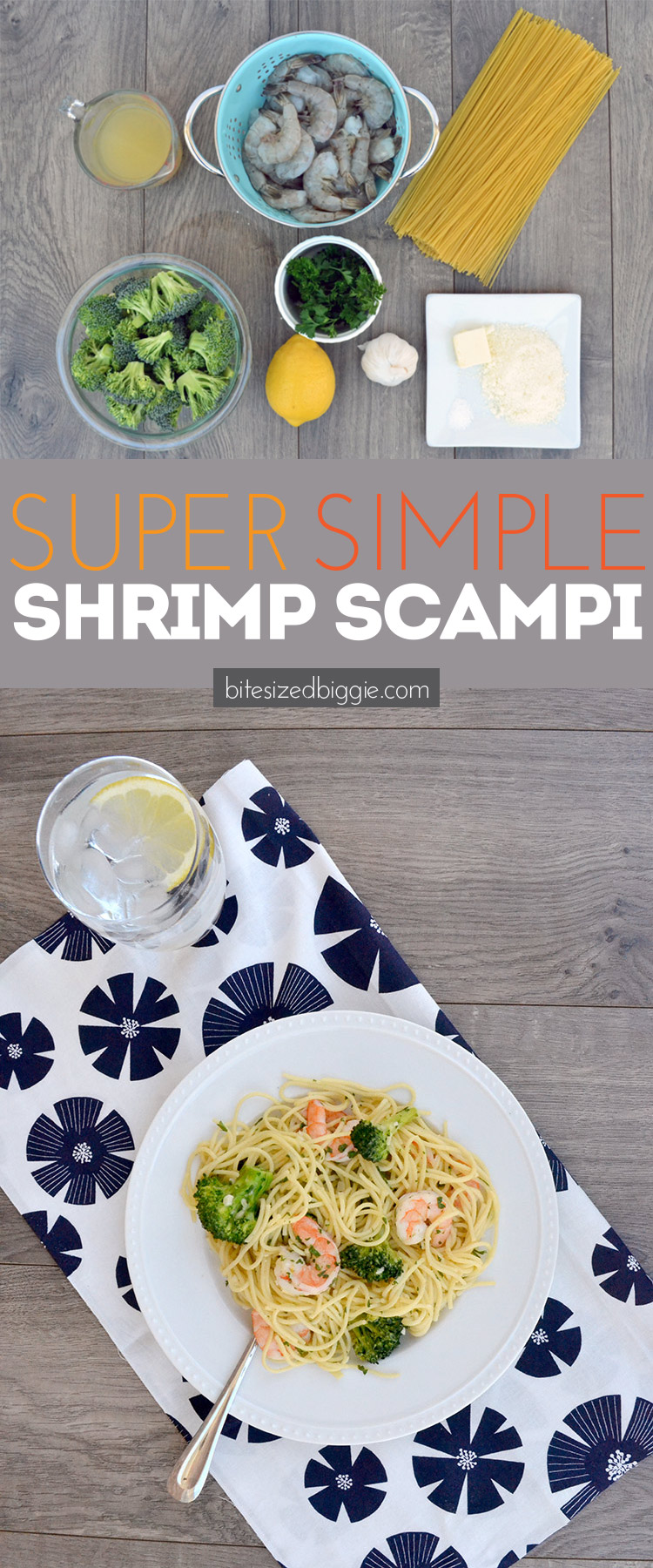 Super simple shrimp scampi recipe - will become a go-to weeknight AND weekend meal!
