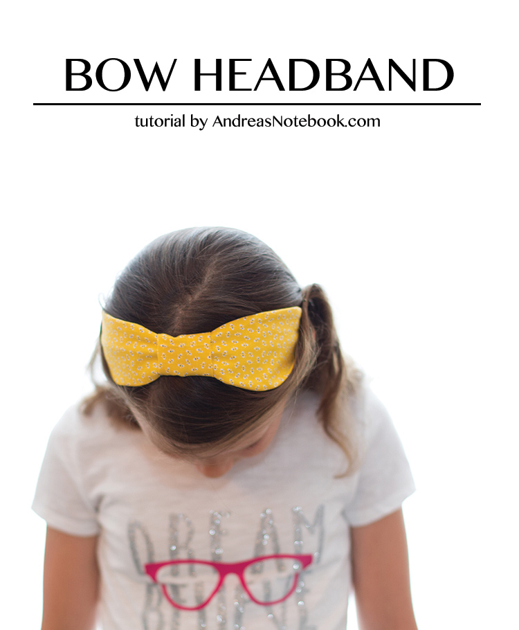 bow headband scrap fabric diy