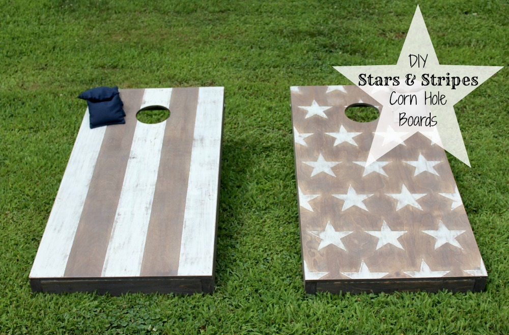 corn hole stars and stripes