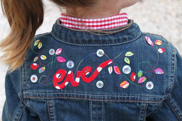 embellished scraps on jacket