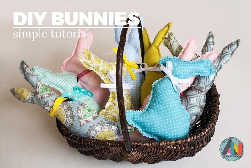 fabric scrap sewn bunnies