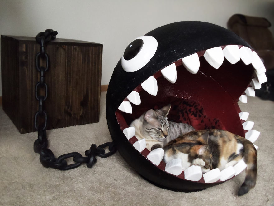 mario bros chain chomp pet bed
