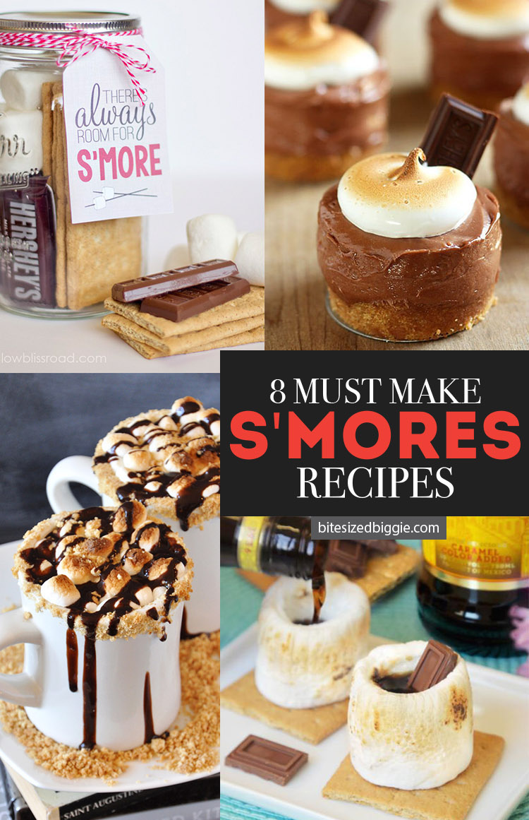 8 MUST-MAKE S'mores recipes - the dip and the no-bake cheesecakes are both AMAZING!