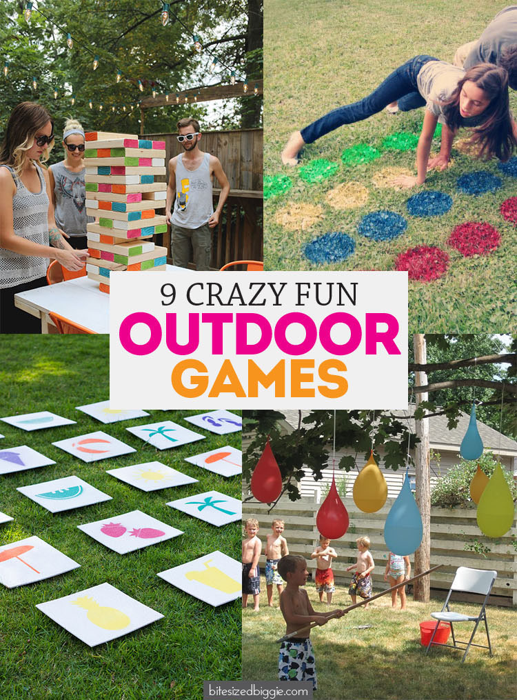 9 CRAZY FUN Outdoor Games for your next party or for family fun!