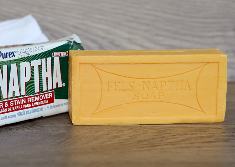 Fels-Naptha soap does SUCH a great job on stains and is super easy to use! I wish I'd found it 3 kids ago!