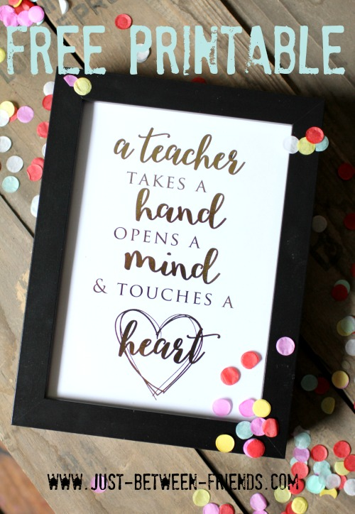 Free printable for teacher appreciation week - so sweet!