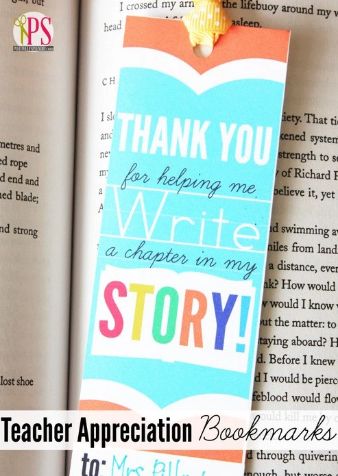 Teacher Appreciation Bookmarks