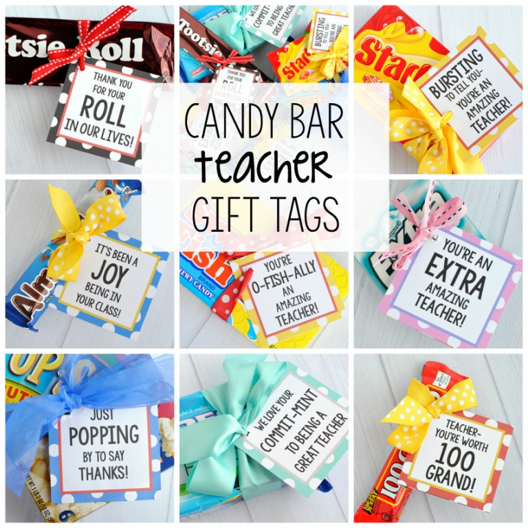 Teacher treat printable gift tags