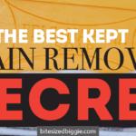 The Best Kept Stain Removal Secret