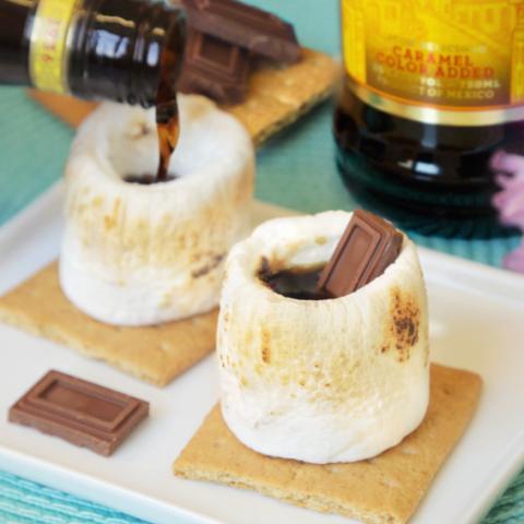 S'mores shots - kahlua inside a marshmallow