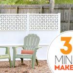 30 Minute Backyard Makeover