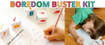 Boredom Buster Kit - 10 projects to keep kids creative and engaged this summer!