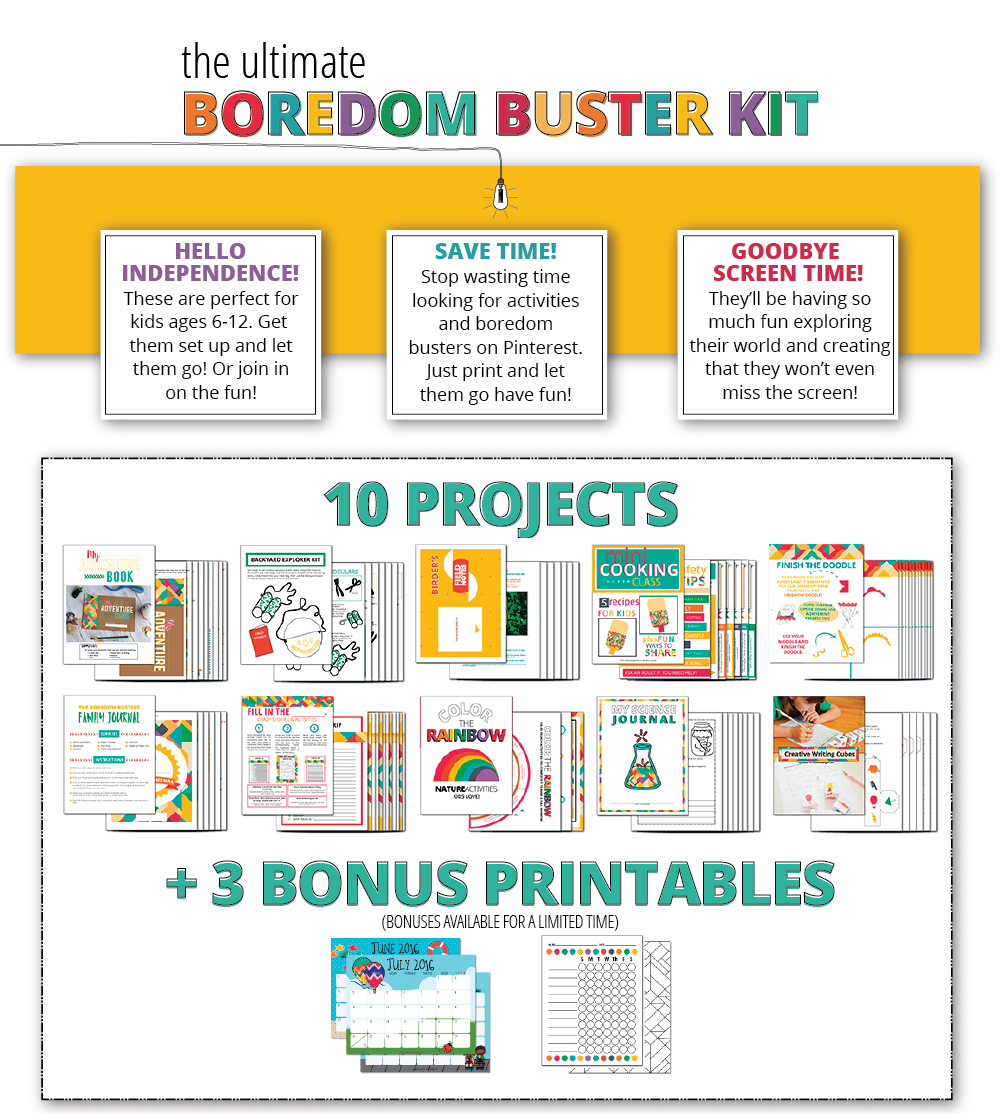 Boredom Busters Bundle - download and print!