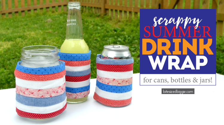 Scrappy summer drink wrap koozie DIY project