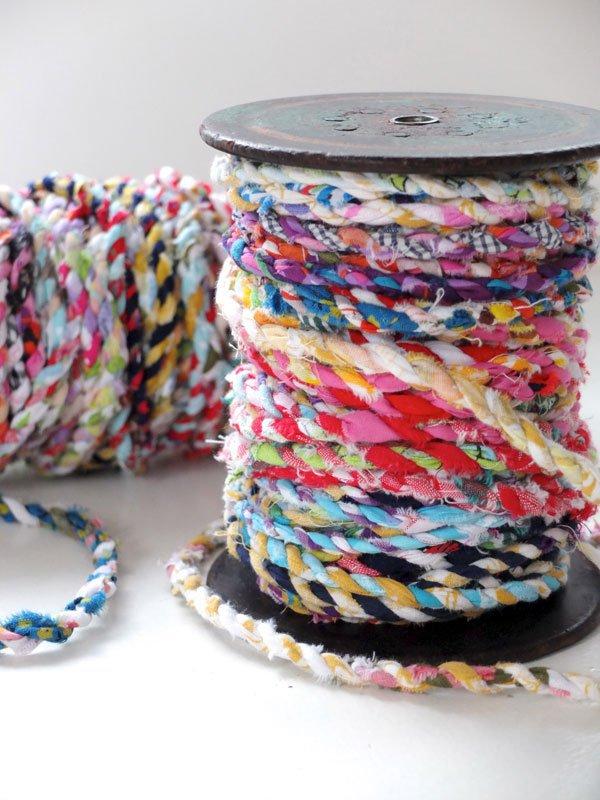 diy fabric twine scraps