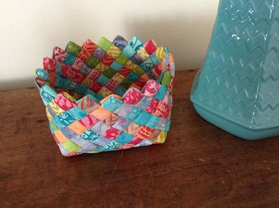 fabric woven basket