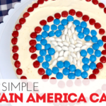 How to Decorate a Super Simple Captain America Cake