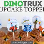 Free Dinotrux Cupcake Topper Printable
