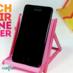 DIY Cell Phone Holder Beach Chair