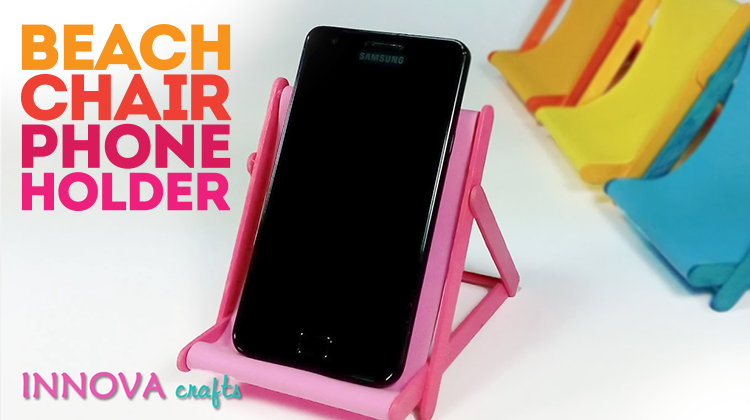 DIY Cell Phone Holder Beach Chair - Bite Sized Biggie