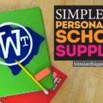 DIY Personalized School Supplies