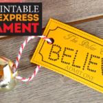 "Easy DIY Polar Express ""Believe"" Jingle Bell Ornament"