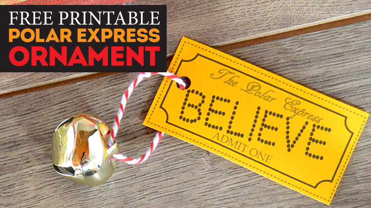 image about Printable Polar Express Ticket known as Straightforward Do-it-yourself Polar Categorical \