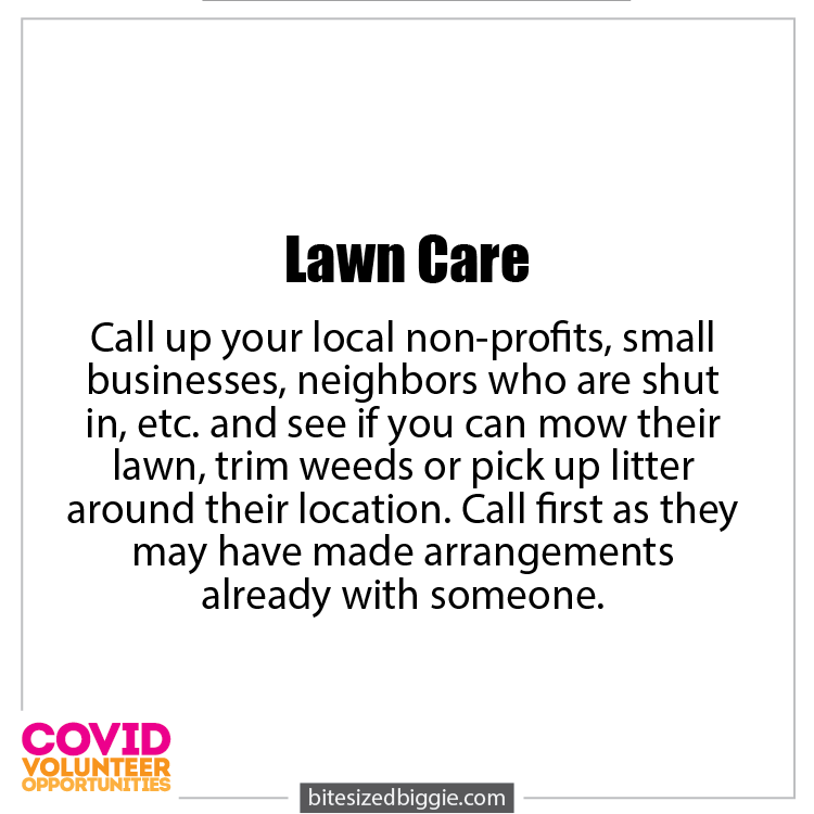 Lawn Care - COVID-19 Volunteer Opportunities